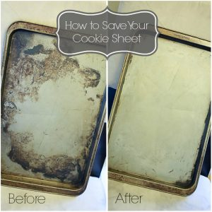how to clean cookie sheets with ammonia