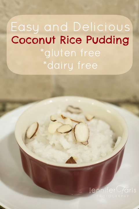 Coconut Rice Pudding – Gluten and Dairy Free