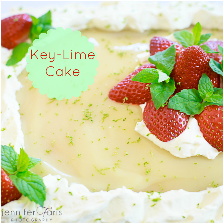 Three Layer Key Lime Cake