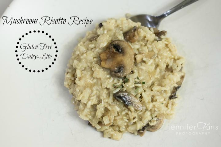 Mushroom Risotto (Gluten-Free and Dairy 'Lite')