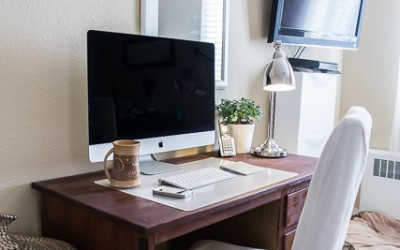 How to Create Beautiful Office Space (When You Have No Space!)